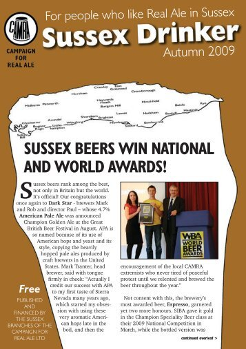 Sussex Drinker: Autumn 2009 - Arun & Adur CAMRA