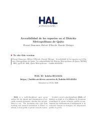 La vulnerabilidad del Distrit o Metropolitano de Quito Capítulo ... - HAL