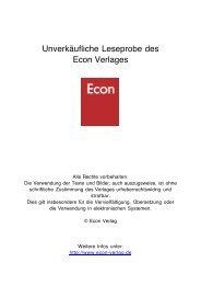 Unverkäufliche Leseprobe des Econ Verlages