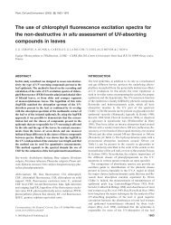 The use of chlorophyll fluorescence excitation spectra for the non ...