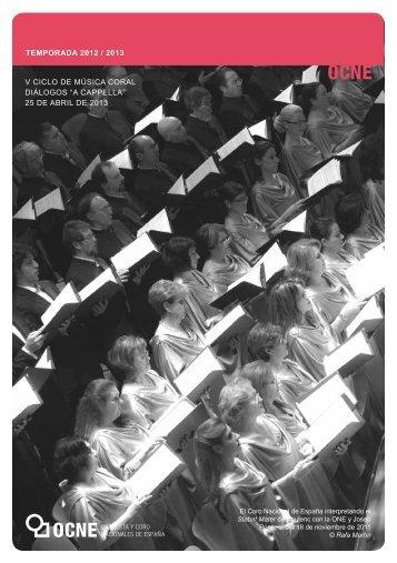 Coral25abril Programa Diptico ok - Orquesta y Coro Nacionales de ...