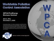 Air Pollution Control Considerations for Biomass Firing ... - Wpca.info