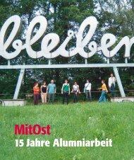15 Jahre Alumniarbeit - MitOst e.V.