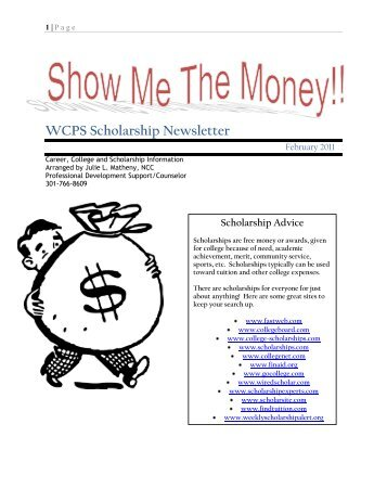 WCPS Scholarship Newsletter - Washington County, MD Public ...