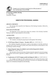 ANNOTATED PROVISIONAL AGENDA - CCOP