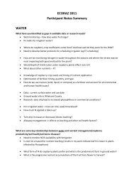 Participant Notes Summary - WSU Whatcom County Extension