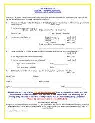 Enrollment Form - The Health Plan