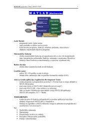 Uvod u Matlab - Skripta