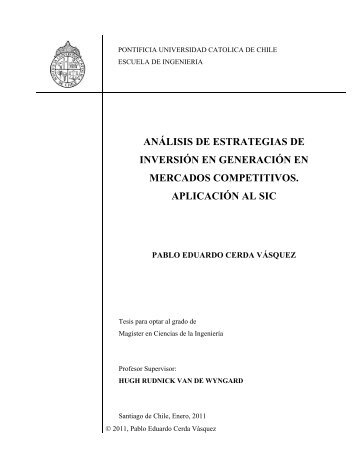 análisis de estrategias de inversión en generación en mercados ...