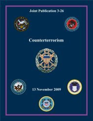 JP 3-26, Counterterrorism - Defense Technical Information Center