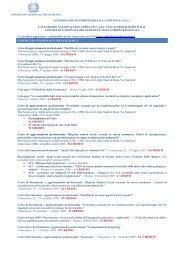 Elenco dei corsi validati effettuati aggiornato a dicembre 2010