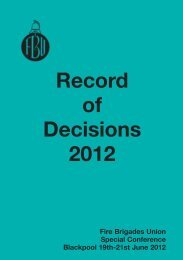 Rec of Decs 2012 - Fire Brigades Union