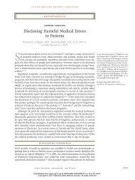 Disclosing Harmful Medical Errors to Patients - Harvard University