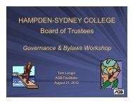 Workshop Slides - Hampden-Sydney College