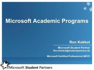MSDN AA = Microsoft Developer Network – Academic ... - studiy