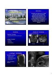 Artefakte - Institut für Diagnostische und Interventionelle Radiologie