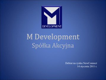 M Development SA - wseie