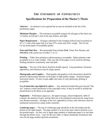 master thesis instructions