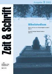 Bibelstudium - Zeit & Schrift