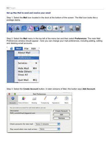 send eamil to pdf mac