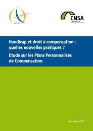Etude sur les Plans Personnalisés de Compensation - Handipole