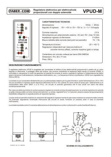 Scheda tecnica VPUD-M (Italiano)