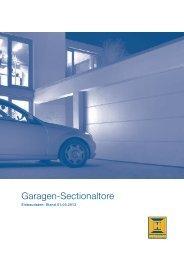 Einbaudaten Garagen-Sectionaltore BR40 2009 - Hörmann KG