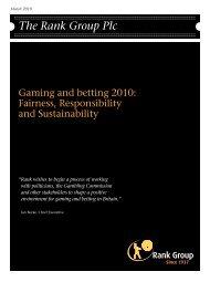 View our Political Manifesto (PDF 280 KB) - Rank Group