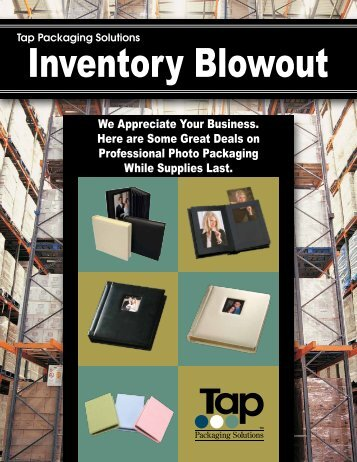 Inventory Blowout - Tap Packaging Solutions