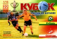2003.11.22: Кубань (Краснодар, Россия) vs СПАРТАК // Fanat1k.ru