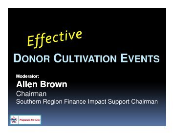 DONOR CULTIVATION EVENTS - Northern Tier