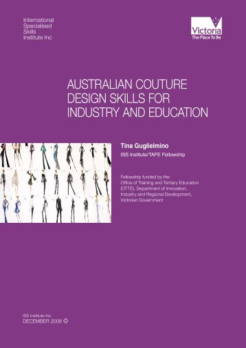 australian couture design skills for industry and ... - Blockshome.com