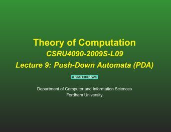 Class notes (pdf) - Computer & Information Sciences - Fordham ...