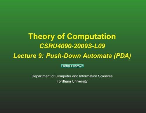 Class notes (pdf) - Computer & Information Sciences - Fordham