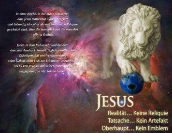 Jesus: Realität...Keine Reliquie, Tatsache...Kein Artefakt, Oberhaupt ...