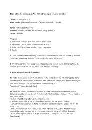 Zápis z členské schůze o. s. Arte-fakt