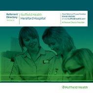 Referrers - Nuffield Health