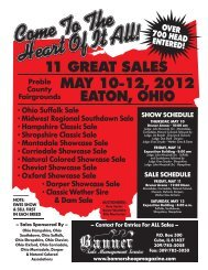 attend the big ohio sale weekend! - Banner Sheep Magazine