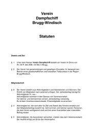 Verein Dampfschiff Brugg-Windisch Statuten