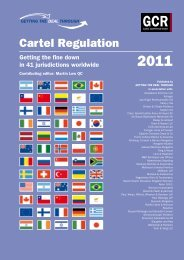 Getting the Deal Through. Cartel Regulation 2011. Latvia chapter