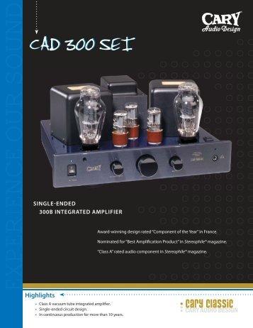 CAD 300SEI.indd - Cary Audio Design