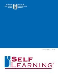 Self Learning Sample Booklet - The College of Family Physicians ...