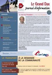 Journal d'information - Grand Dax
