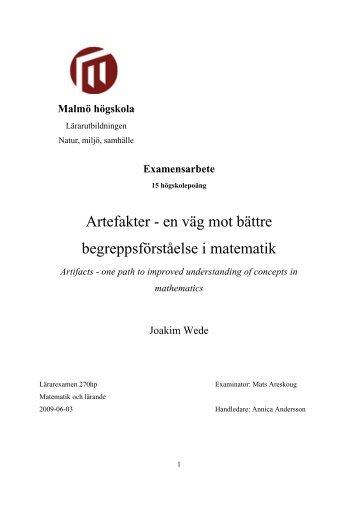 Joakim Wede examensarbete slutversion 2 - MUEP - Malmö ...