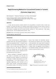 Rapid Screening Method for Curcuminoid Content in Turmeric