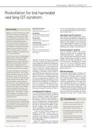 Risikofaktor for brå hjertedød ved lang QT-syndrom2515–9 - NRR