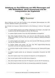 Anleitung zur Durchführung von HRV-Messungen und HRV ...