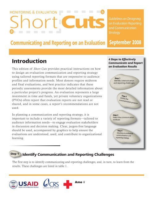 Communicating and Reporting on an Evaluation - CRS Technical