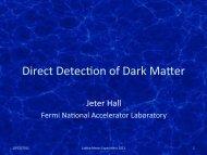 Direct Detection of Dark Matter