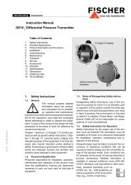 Instruction Manual DE16 Differential Pressure ... - FISCHER Mess
